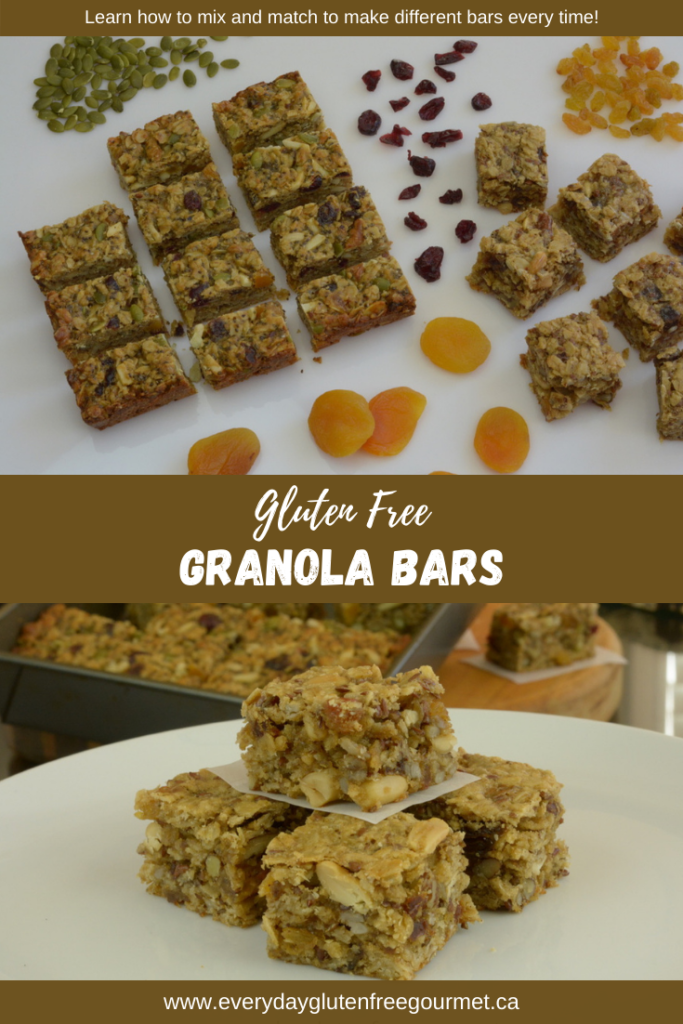 Gluten free granola bars made two different ways.