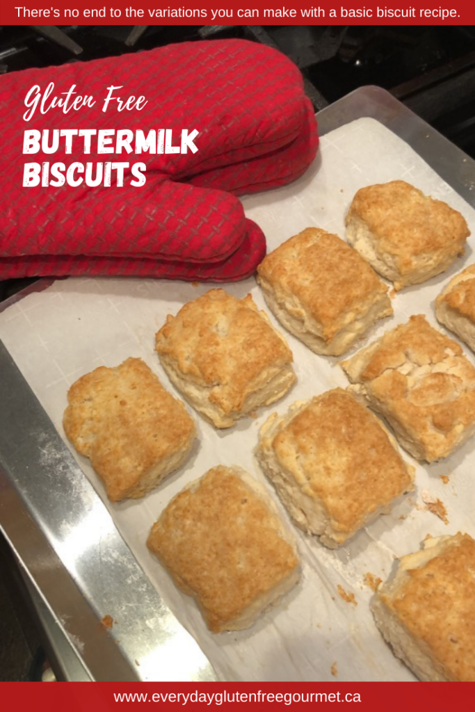 Fluffy gluten free Buttermilk Biscuits hot from the oven.