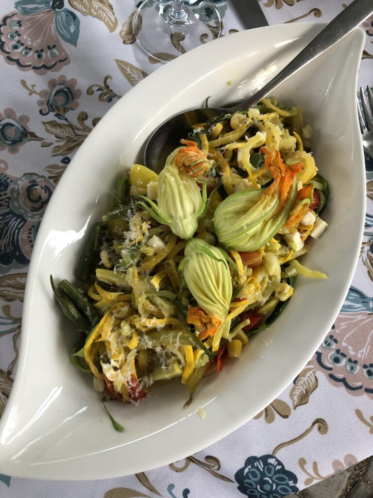 Zoodles with Cherry Tomatoes