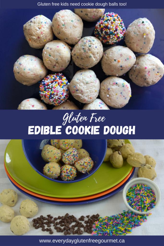 Gluten free edible cookie dough balls