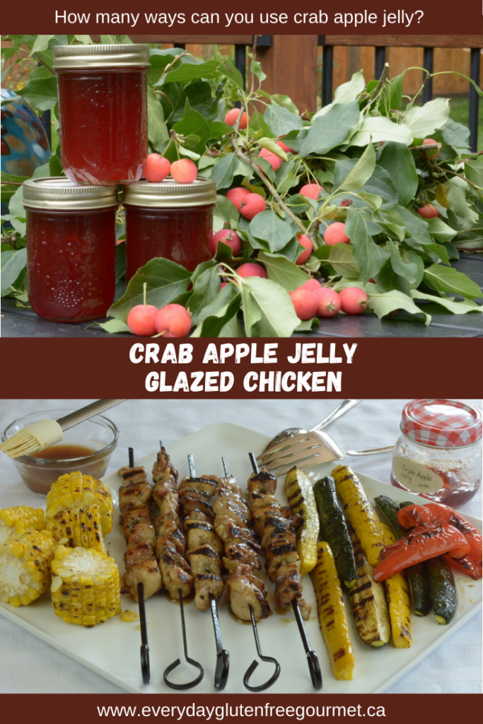 Crab Apple Jelly Glazed Chicken on skewers