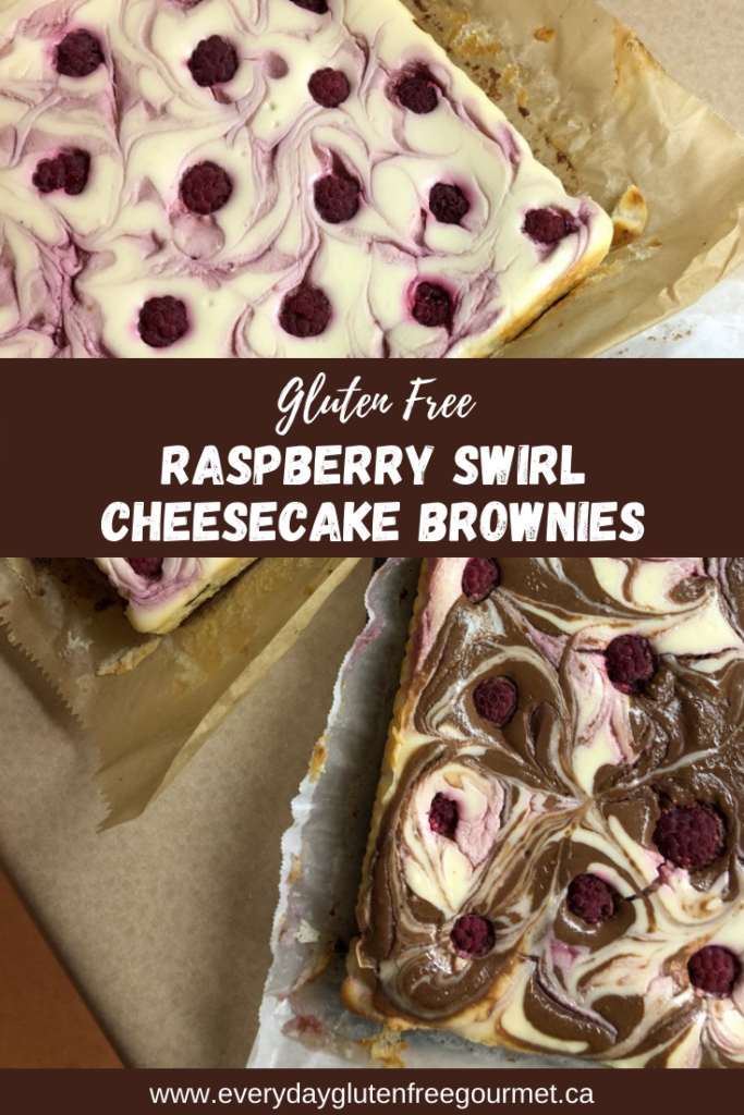 Two full pans of uncut Raspberry Swirl Cheesecake Brownies, one with chocolate swirls too.
