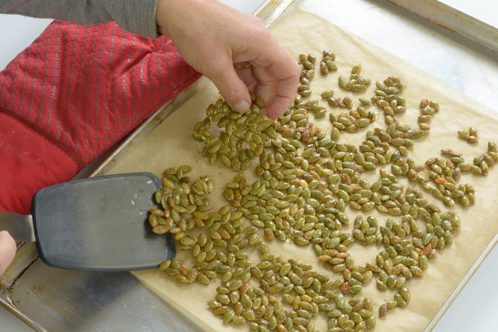 Candied Sweet and Salty Pumpkin Seeds